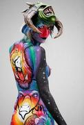 Best Beautiful Art Body Painting in Festival