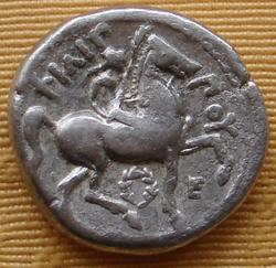 Tetradracma de Filipo II de Macedonia. ΦIΛIΠΠOY. Anfípolis Th_340695617_27A_122_493lo